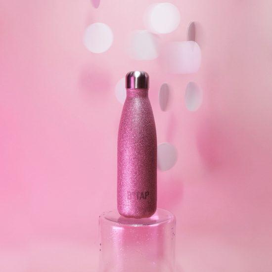 butelka termiczna kometa glitter pink